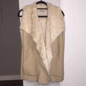 ZARA TRAFALUC Outerwear Collection Fur Vest